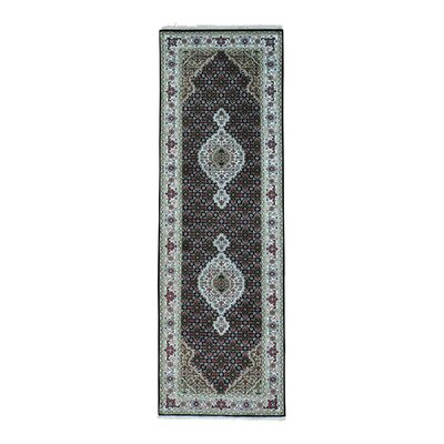 One-of-a-Kind Saltzman Mahi 250 Kpsi Hand-Knotted Silk Area Rug Rug Size: Runner 27 x 106