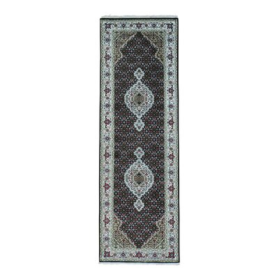 One-of-a-Kind Saltzman Mahi 250 Kpsi Hand-Knotted Silk Area Rug Rug Size: Runner 27 x 82