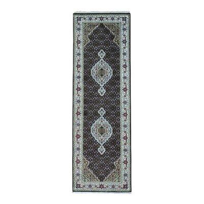 One-of-a-Kind Saltzman Mahi 250 Kpsi Hand-Knotted Silk Area Rug Rug Size: Runner 27 x 82