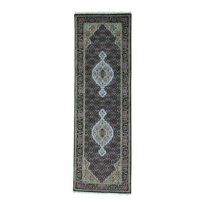 One-of-a-Kind Saltzman 250 Kpsi Mahi Hand-Knotted Silk Area Rug Rug Size: Runner 26 x 81