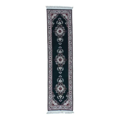 Kerman Sino Hand-Knotted Green Area Rug