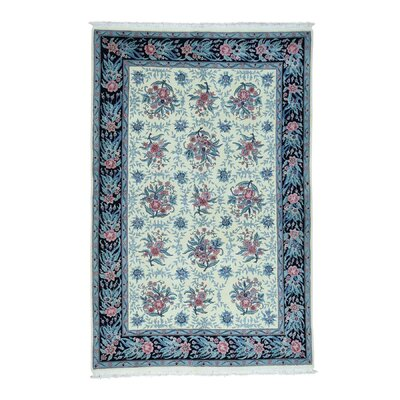 One-of-a-Kind Rudolph Sino Dense Weave Botanical Oriental Hand-Knotted Area Rug