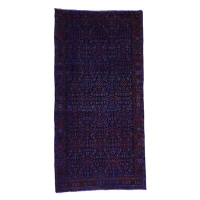 Overdyed Sarouk Hand-Knotted Purple Area Rug