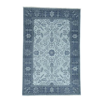 One-of-a-Kind Organ Knot Oushak Cropped Oriental Hand-Knotted Area Rug