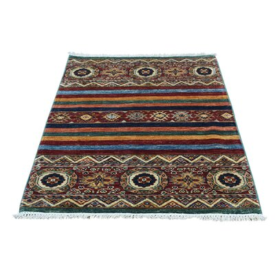 One-of-a-Kind Tillotson Super Khorjin Oriental Hand-Knotted Area Rug Rug Size: Rectangle 28 x 42