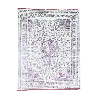 One-of-a-Kind Cerie Broken Hand-Knotted Silk Area Rug