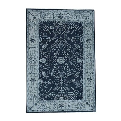 One-of-a-Kind Organ Knot Oushak Oriental Hand-Knotted Area Rug