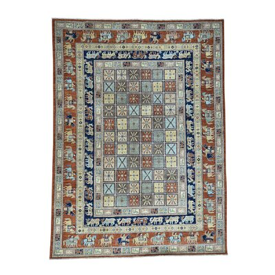 Pazyryk Historical Oriental Hand-Knotted Light Brown/Blue Area Rug Rug Size: Rectangle 91 x 122