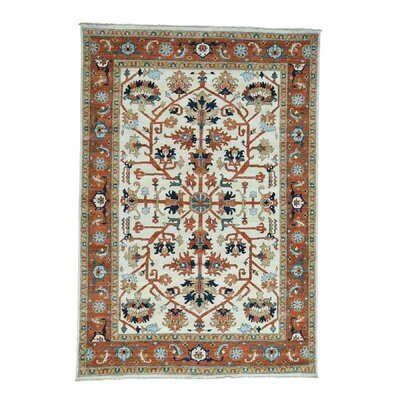 One-of-a-Kind Rueter Peshawar Oriental Hand-Knotted Area Rug Rug Size: Rectangle 63 x 91