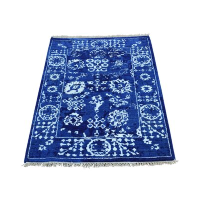 One-of-a-Kind Saltzman Tone on Tone Oriental Hand-Knotted Silk Area Rug