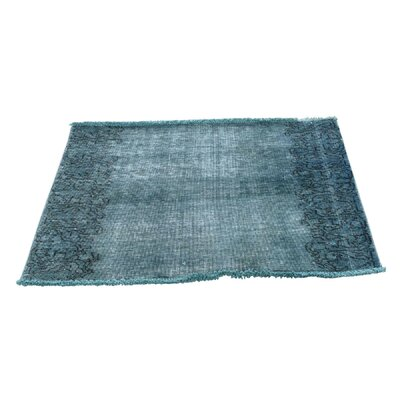 One-of-a-Kind Matheus Worn Overdyed Fragment Hand-Knotted Area Rug