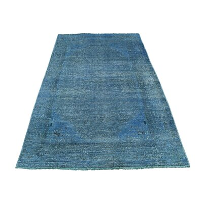 One-of-a-Kind Matheus Worn Overdyed Hand-Knotted Area Rug