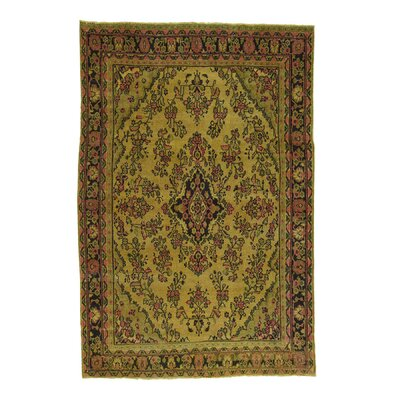 One-of-a-Kind Samford Cast Overdyed Vintage Hand-Knotted Area Rug