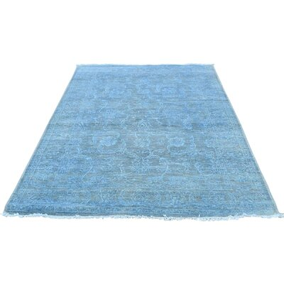 One-of-a-Kind Keeso Cast Overdyed Oriental Hand-Knotted Area Rug