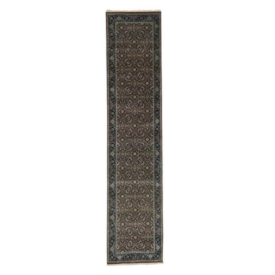 300 KPSI Herat Oriental Hand-Knotted Brown Area Rug