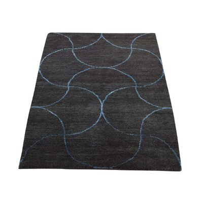 One-of-a-Kind Hufford Modern Oriental Hand-Knotted Silk Area Rug
