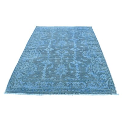 One-of-a-Kind Kensington Sliver Cast Overdyed Hand-Knotted Area Rug