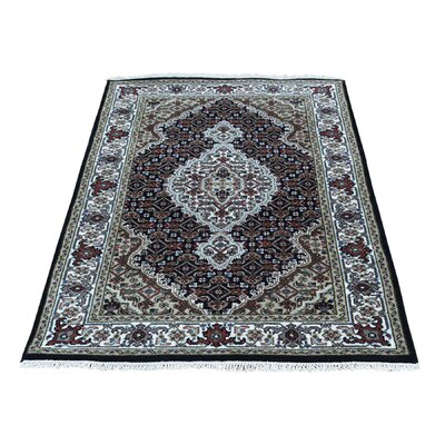 One-of-a-Kind Samons Mahi Oriental Hand-Knotted Silk Area Rug