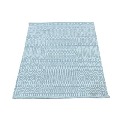 Flat Weave Grass Reversible Kilim Hand-Knotted Ivory Area Rug
