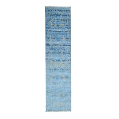 One-of-a-Kind Ebbert Broken Hand-Knotted Silk Area Rug