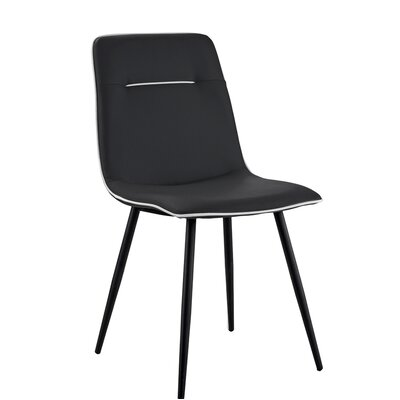 Feinberg Upholstered Dining Chair Upholstery Color: Black