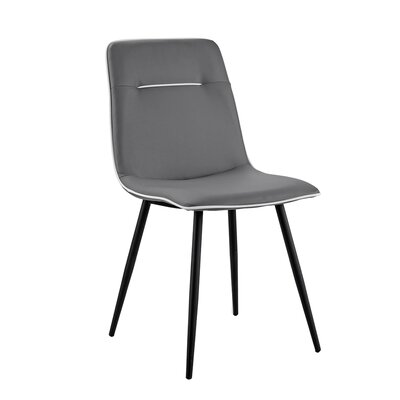 Feinberg Upholstered Dining Chair Upholstery Color: Gray