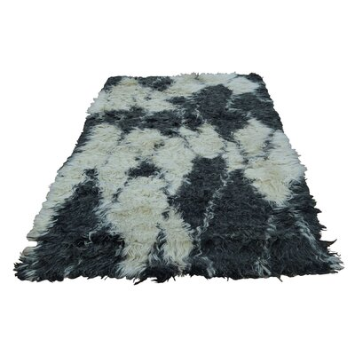 One-of-a-Kind Yasmine Shaggy and Plush Hand-Knotted Area Rug Rug Size: Rectangle 41 x 66
