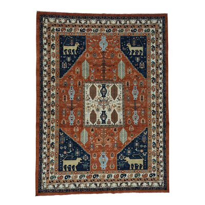 One-of-a-Kind Gowan Ancient Animal Hand-Knotted Area Rug Rug Size: Rectangle 101 x 138