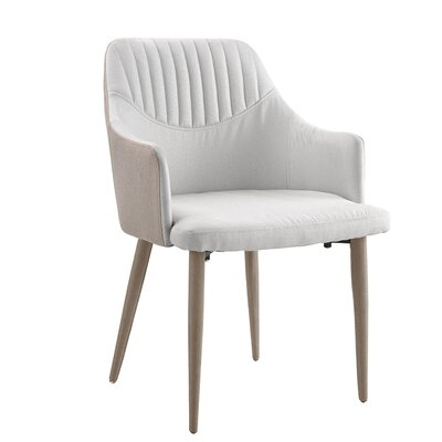 Fehrenbach Upholstered Dining Chair Upholstery Color: Beige/White