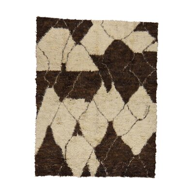 One-of-a-Kind Yasmine Plush Shaggy Hand-Knotted Area Rug Rug Size: Rectangle 8 x 910