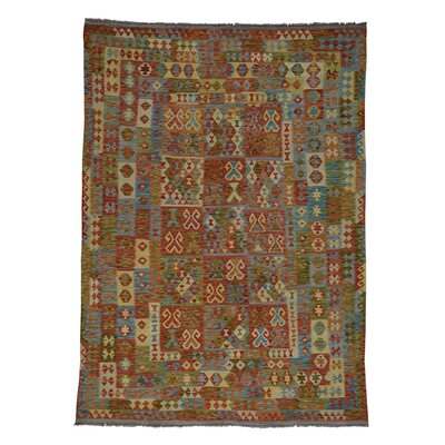 Afghan Kilim Veg Dyes Flat Weave Hand-Knotted Beige/Brown Area Rug