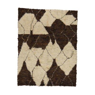 One-of-a-Kind Yasmine Plush Shaggy Hand-Knotted Area Rug Rug Size: Rectangle 8 x 104