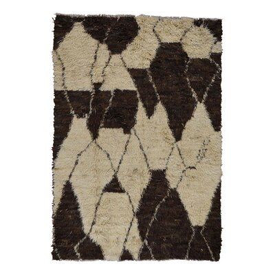 One-of-a-Kind Yasmine Plush Shaggy Hand-Knotted Area Rug Rug Size: Rectangle 62 x 9