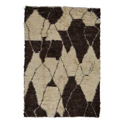 One-of-a-Kind Yasmine Plush Shaggy Hand-Knotted Area Rug Rug Size: Rectangle 63 x 810