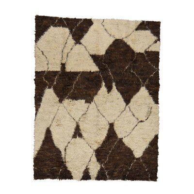 One-of-a-Kind Yasmine Plush Shaggy Hand-Knotted Area Rug Rug Size: Rectangle 98 x 14