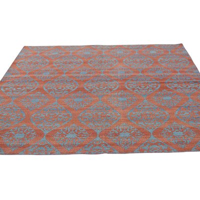 Reversible Durie Kilim Flat Weave Hand-Knotted Red Area Rug