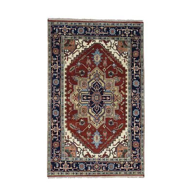 One-of-a-Kind Sager Serapi Heriz Hand-Knotted Area Rug Rug Size: Rectangle 5 x 8