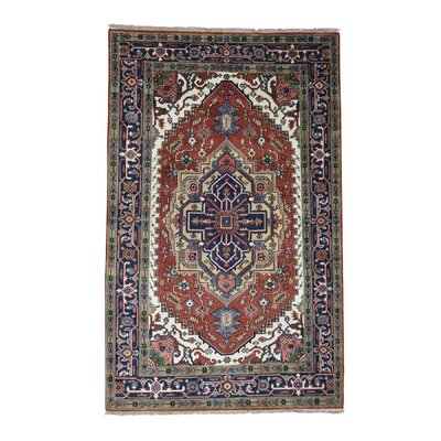 One-of-a-Kind Sager Serapi Heriz Hand-Knotted Area Rug