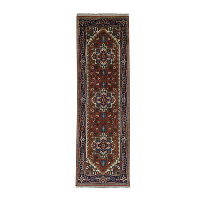 One-of-a-Kind Rueter Serapi Hand-Knotted Area Rug
