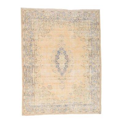 Kerman Vintage Hand-Knotted Beige Area Rug
