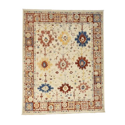 One-of-a-Kind Kempsford Peshawar Oriental Hand-Knotted Area Rug