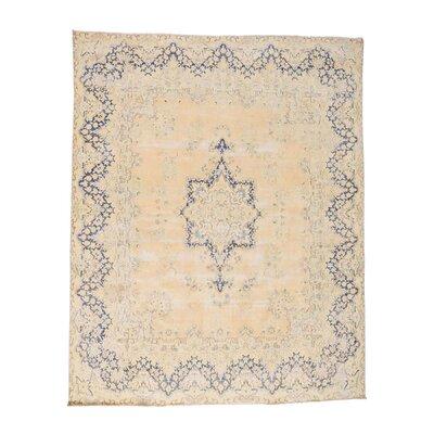 Kerman Shea Vintage Oriental Hand-Knotted Beige Area Rug