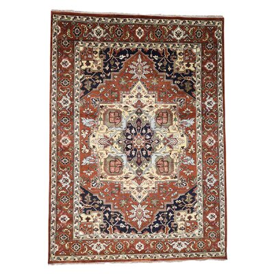 One-of-a-Kind Rueter Serapi Oriental Hand-Knotted Area Rug