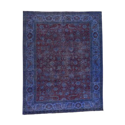 One-of-a-Kind Govan Overdyed Vintage Hand-Knotted Area Rug