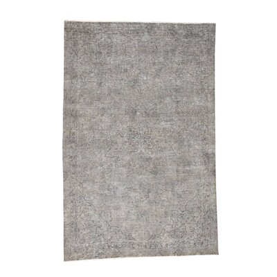 One-of-a-Kind Eddy Overdyed Worn Oriental Hand-Knotted Area Rug