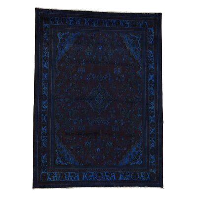 One-of-a-Kind Govan Overdyed Vintage Oriental Hand-Knotted Area Rug
