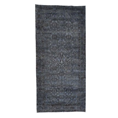 One-of-a-Kind Eddy Overdyed Hamadan Vintage Hand-Knotted Area Rug