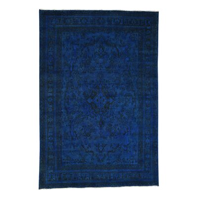One-of-a-Kind Govan Worn Overdyed Hand-Knotted Area Rug