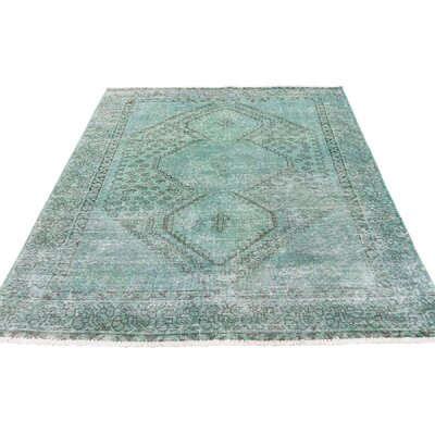 One-of-a-Kind Eatman Overdyed Worn Oriental Hand-Knotted Area Rug