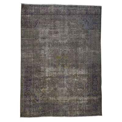 One-of-a-Kind Laursen Overdyed Worn Hand-Knotted Area Rug